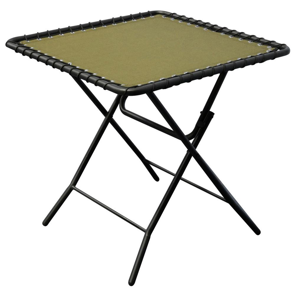 caravan sports beige textiline patio folding table the outdoor side tables emerald green accent linens mid century modern art target lamps small thin coffee couch dining ballard