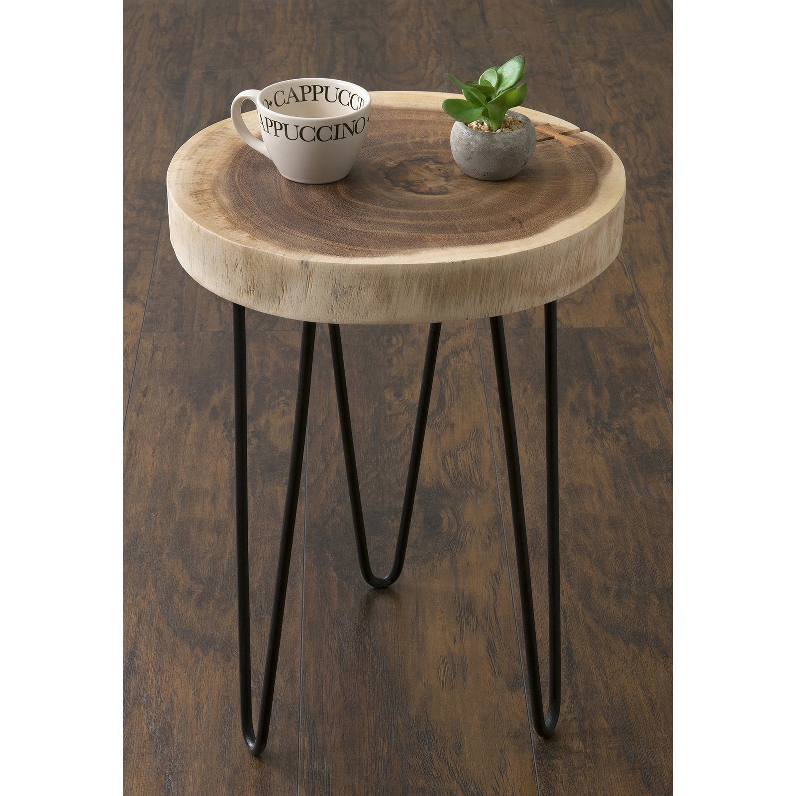carbon loft julia brown teakwood round accent table east mains laredo teak free shipping today crystal bedside lamps pottery barn side lamp shades placemats and coasters silver