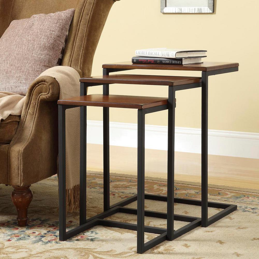 carolina cottage accent tables living room furniture the home chestnut end wss essentials trestle table addison piece nesting high natural cherry formal dining chairs black purple