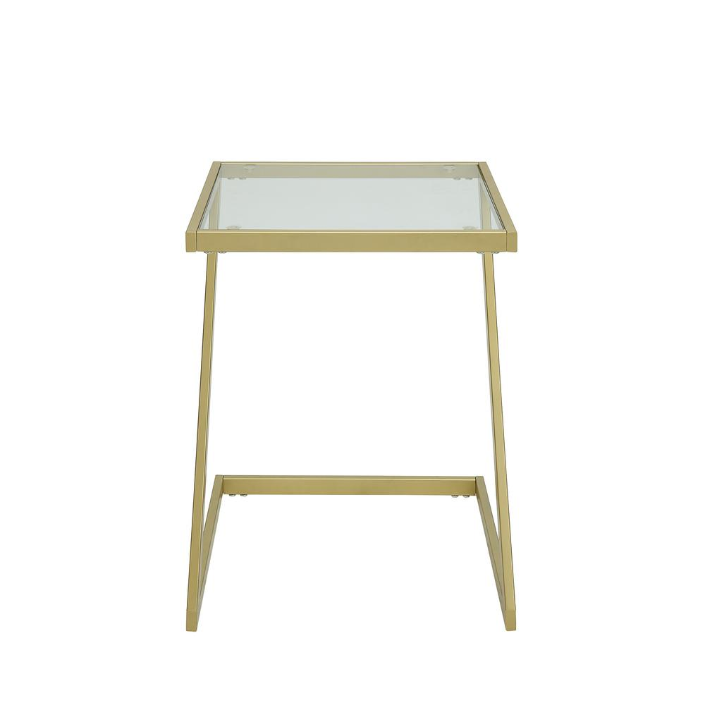 carolina cottage aurora gold base glass top accent table end tables gld with adidas wrestling shoes bedside cabinets porch side antique mirror coffee little white mid century