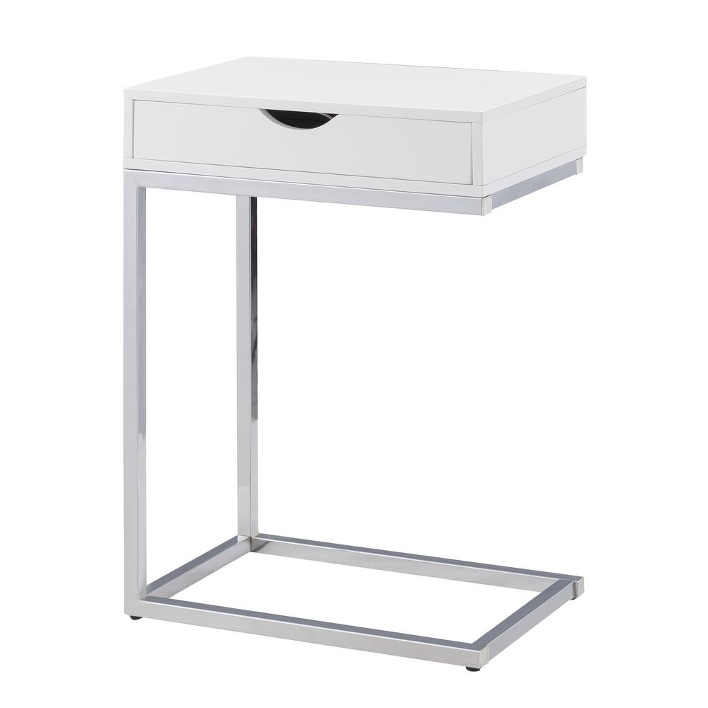 carolina cottage bence white storage table wht the chrome end tables accent with concrete and chairs reclaimed wood top mission lamp simple runner patterns west elm scoop glass