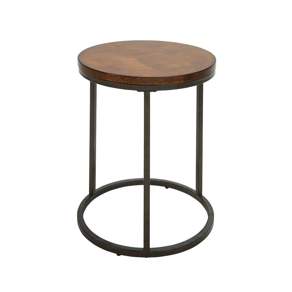 carolina cottage kinston chestnut and industrial wood top accent chic table canadian tire lounge chairs round wicker umbrella stand bookends target pottery barn farmhouse pier one