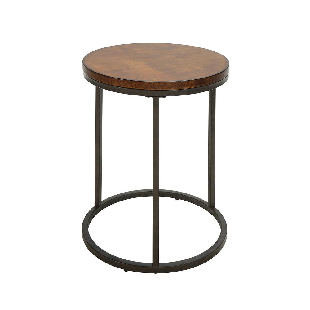 carolina cottage kinston chestnut and industrial wood top accent end tables cheind table counter set astoria chair best coffee lawn furniture nest grey outside bar ikea kitchen