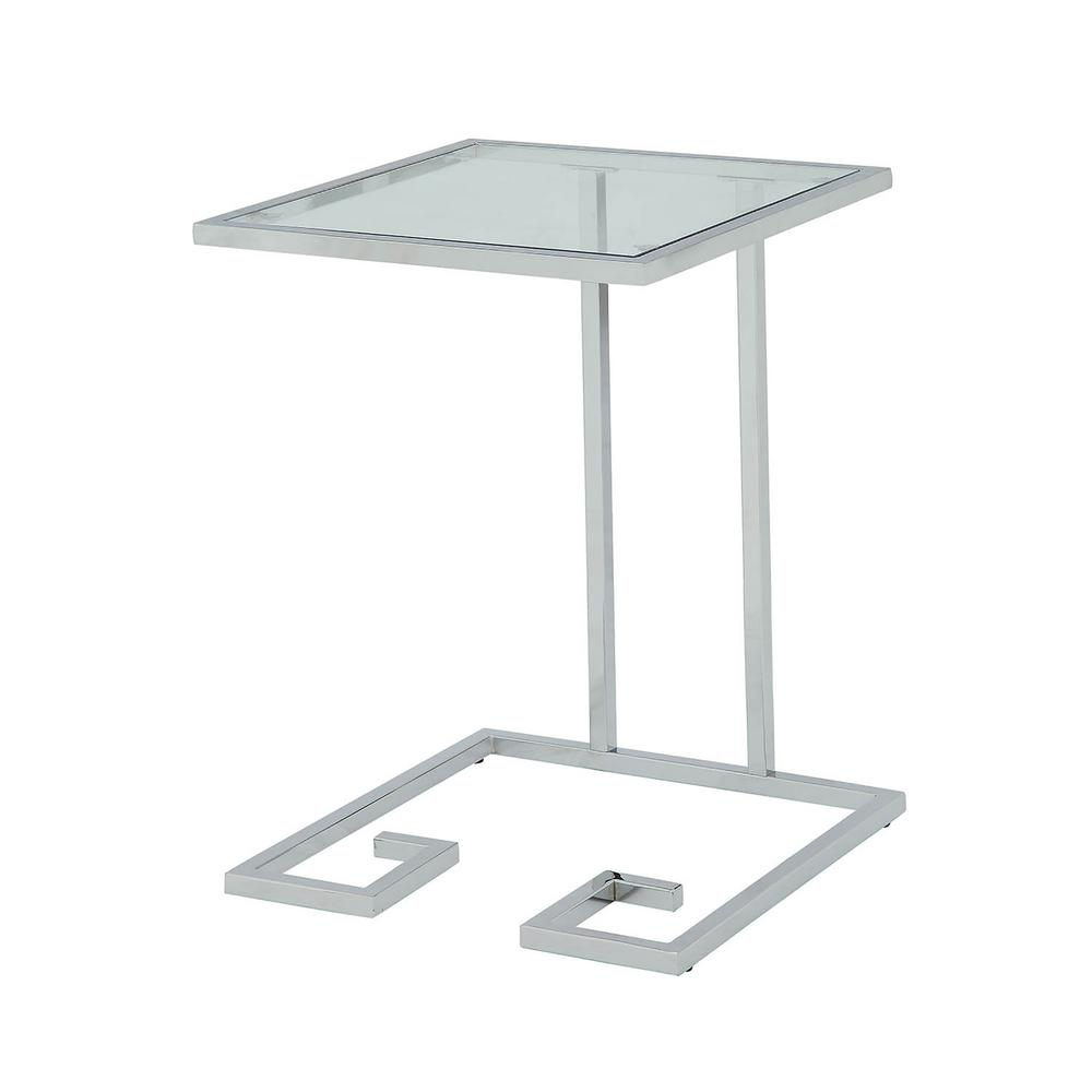 carolina cottage royce chrome glass top accent table chr end tables outdoor umbrella industrial couch depot furniture square tablecloths pier one bar stools grey painted target