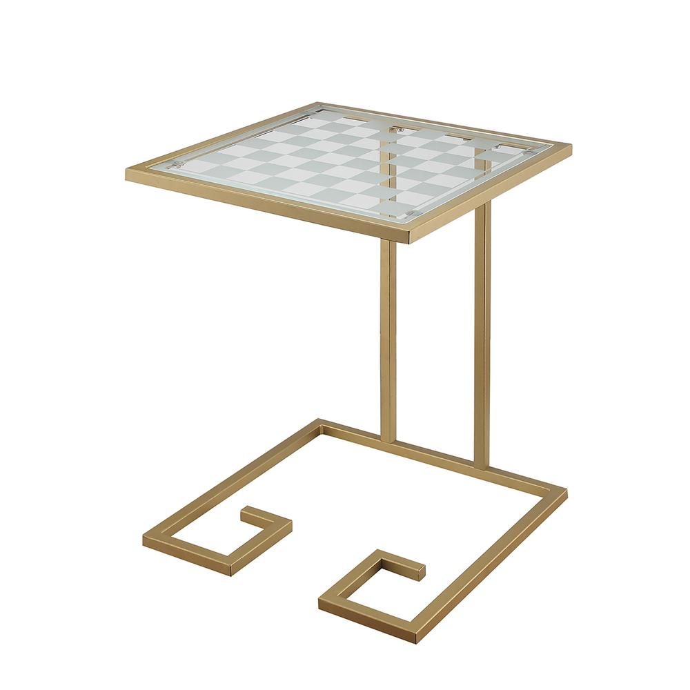 carolina living beckett gold glass game top accent table gld end tables tablecloth for inch round duke pottery barn furniture sauder lift coffee tall narrow large antique dining
