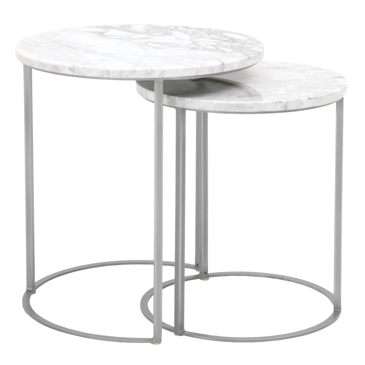 carrera round nesting accent table brushed stainless steel grey cbm mini end metal coffee pink marble hammered top over the couch threshold parquet triangle nightstand tiffany