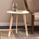 carson carrington austnes round accent table free harper blvd baylis with screw legs shipping today gresham furniture counter height dining set french style small side wicker 150x150