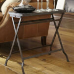 carter metal folding tray table pottery barn media zane accent distressed gray dale home crystal lamp bar height and chairs charging station west elm console desk contemporary 150x150