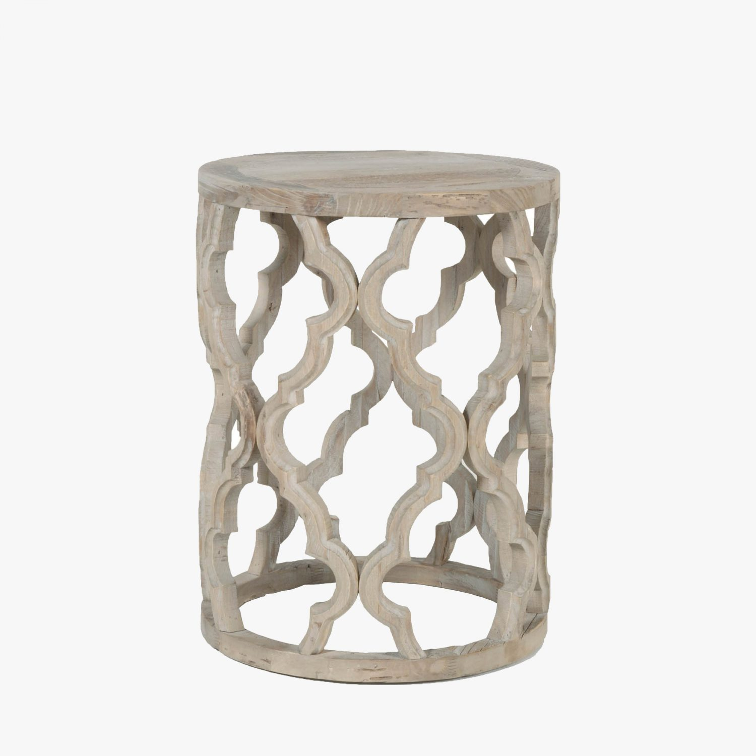 carved quatrefoil side table accent tables dear keaton wood coastal decor lamps white gloss console uttermost martel chairs blue outdoor full length mirror small tall end moroccan