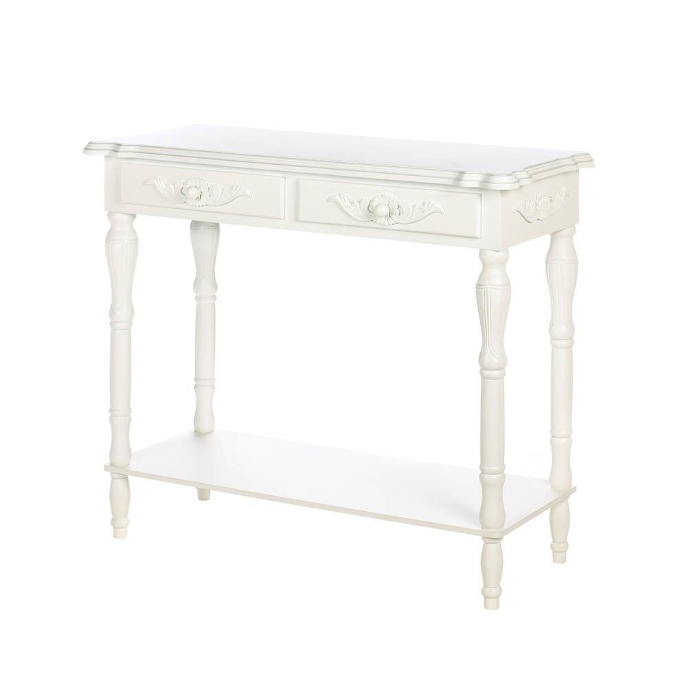 carved white hallway table want furniture hall console accent drawers shelves entry way tables sofa side outdoor patio coffee buffet lamps desk combo navy blue porcelain vase lamp