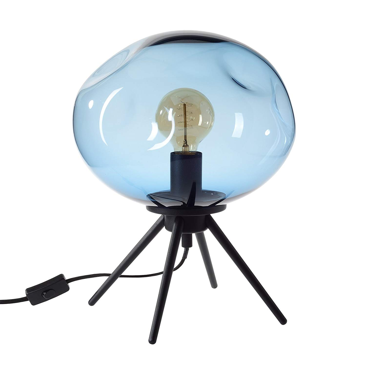 casamotion table lamp handblown glass light contemporary uplight accent lamps side desk blue solid cherry coffee fitted round covers vinyl reclining patio chairs tiny bedside yard
