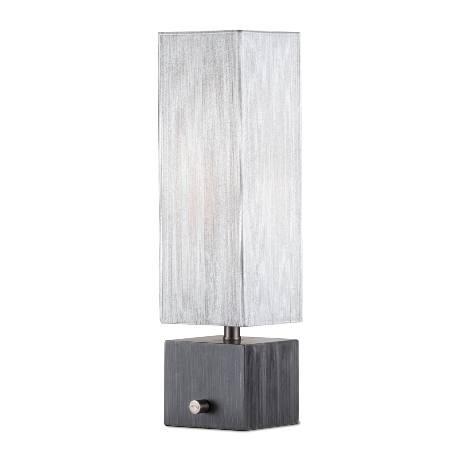 cascade accent table lamp charcoal gray nova lamps touch large modern pier one area rugs ashley furniture office desk inch round tablecloth tree trunk solid wood end tables small