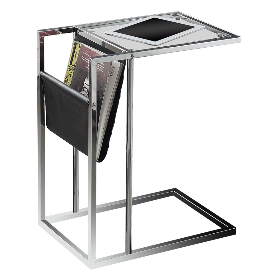 casey black modern accent table magazine rack eurway with gray round side center decor acrylic nightstand small chest for living room ceiling curtain rod tablecloths large tables