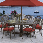cast aluminum fortunoff backyard provancedining outdoor umbrella accent table provance dining set plastic side mid century round bistro garden furniture curved glass coffee off 150x150