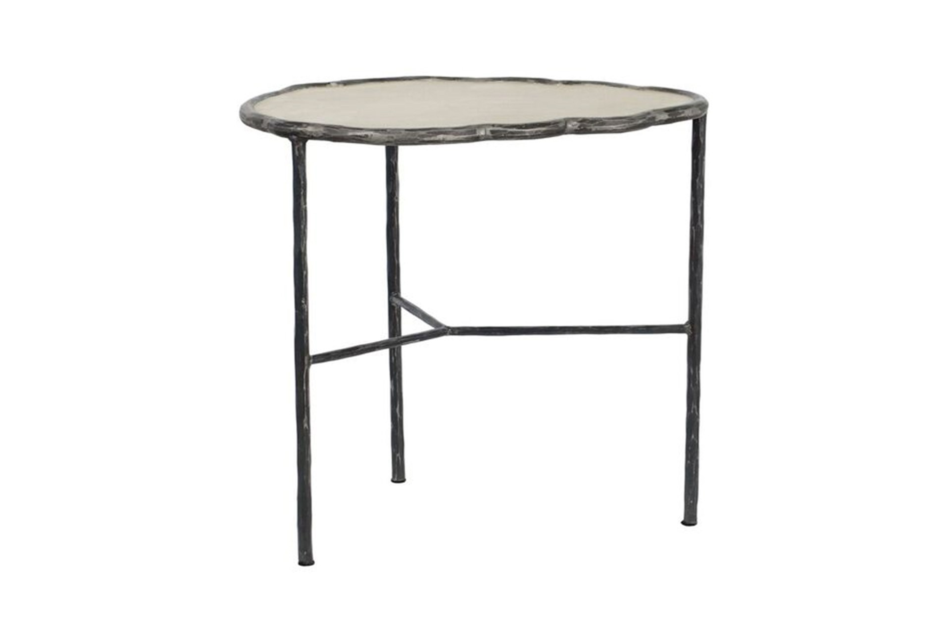 cast iron cement accent table living spaces white multimedia metal nate berkus amp qty has been successfully your cart thin side ikea console with drawers big cloth brown end