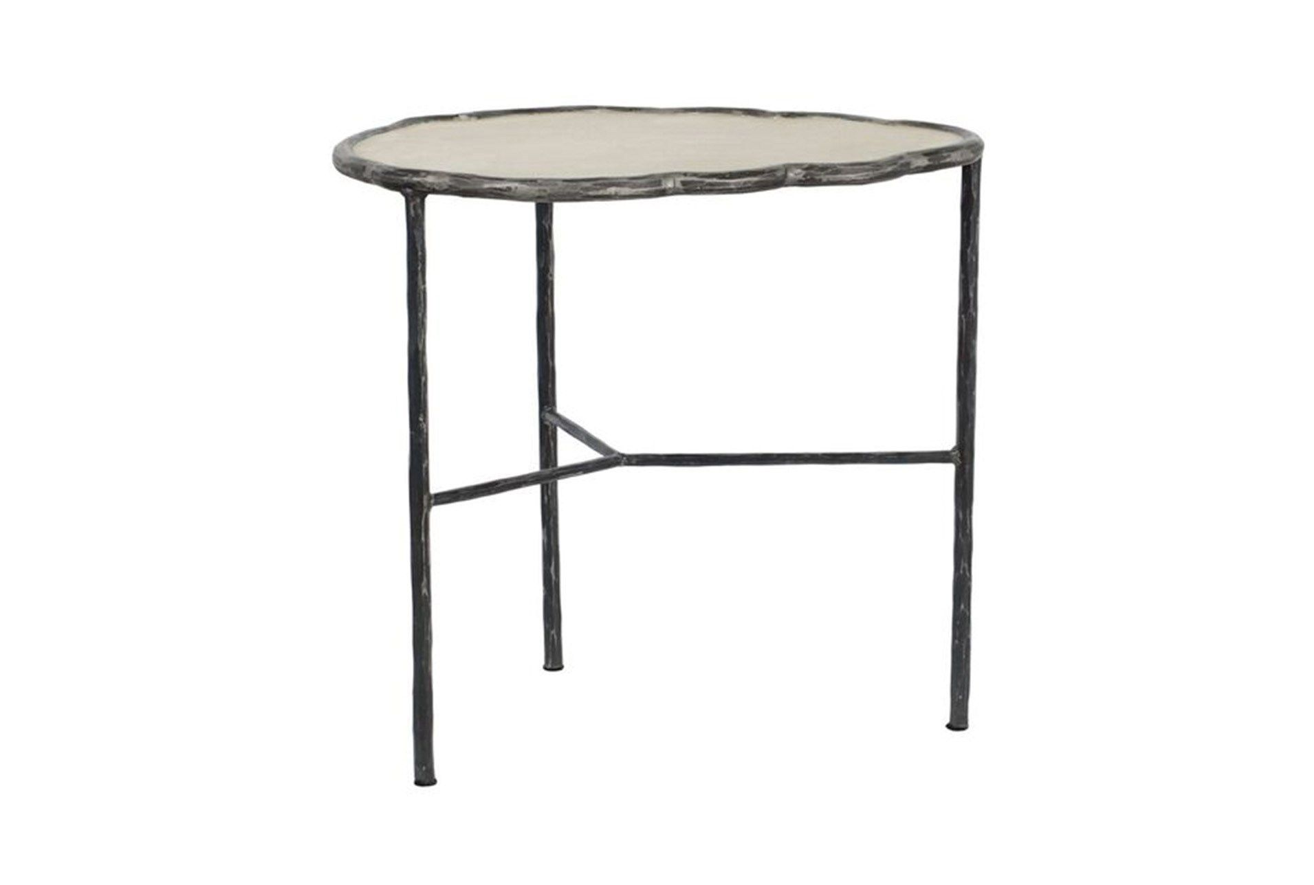 cast iron cement accent table living spaces white multimedia outdoor concrete amp qty has been successfully your cart ikea dining room chairs small patio and west elm wood chair