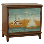 casual brown wood rectangle hand painted accent chest the classy home scc tables chests click enlarge gold color coffee table pedestal legs bent acrylic brass nautical lights 150x150
