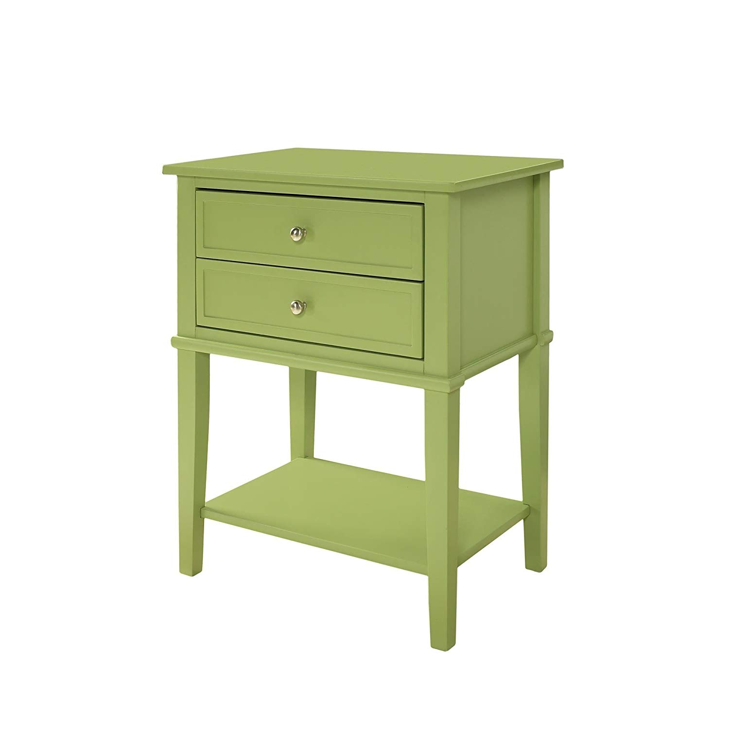 casual clay alder home isleton white drawer accent prepac table painted solid wood and mdf large smooth top green kitchen dining modern trestle goods chairs little outdoor