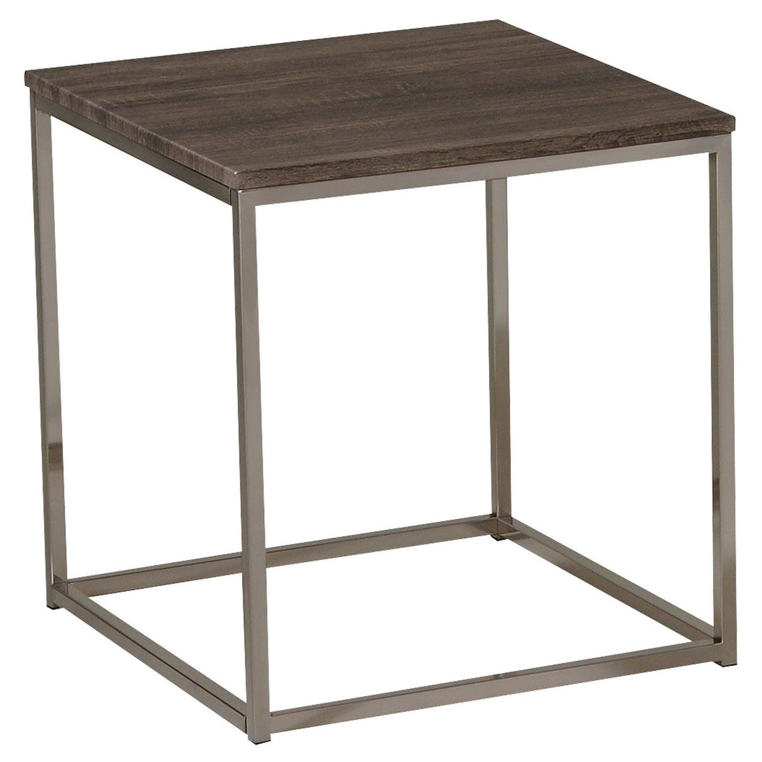 cecil end table walnut brushed nickel acme living room mixed material accent all about materials with the and try this modern maximize yoursquore nod patio beverage cooler side