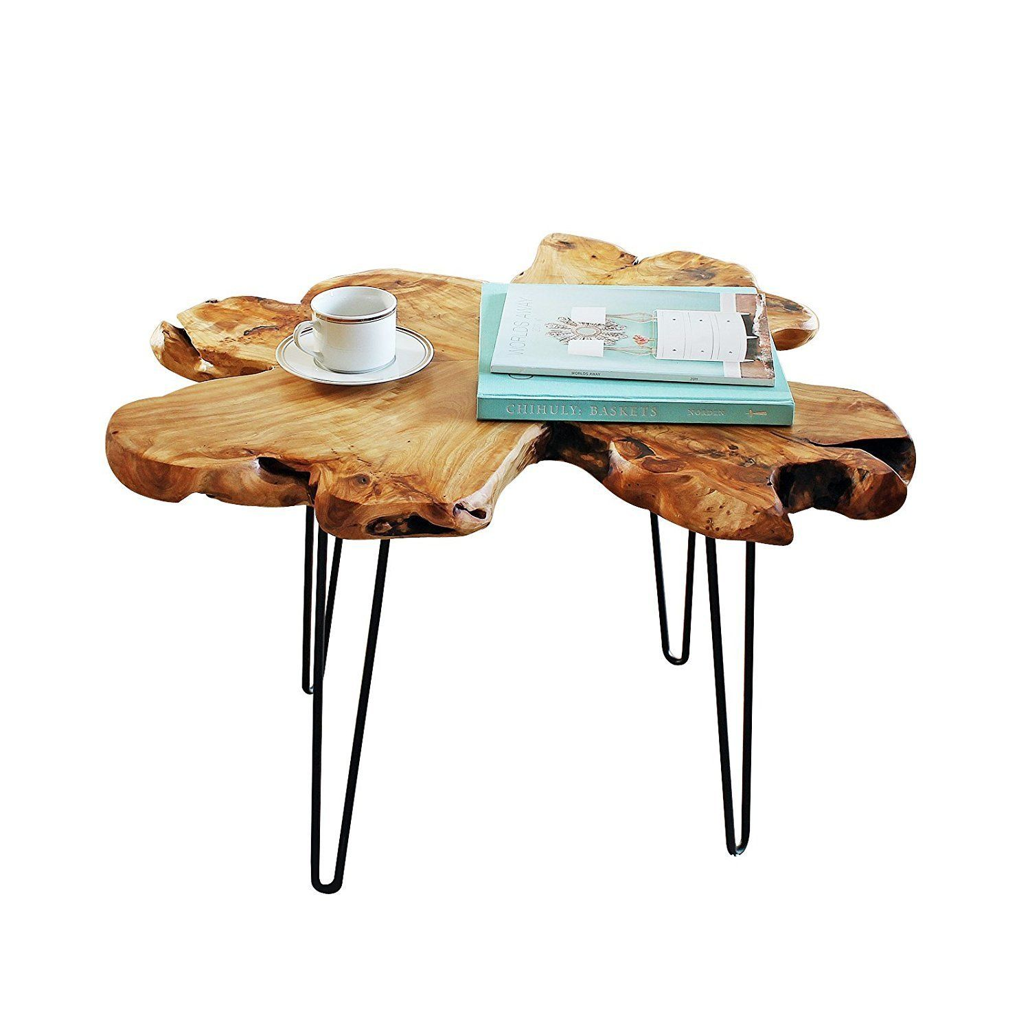 cedar live edge hairpin coffee table rustic mid century modern side room essentials accent dining buffet marble brass nautical chairs small with top farm style gold legs knotty