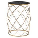 celestine convex round metal accent table with smoked glass top brass finish drum loading modern farmhouse coffee white mirrored small plant inch console dining set screw wooden 150x150