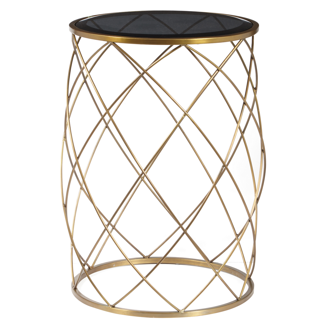 celestine convex round metal accent table with smoked glass top brass finish loading small cane side tables console set ikea bathroom storage battery operated indoor lamps coffee