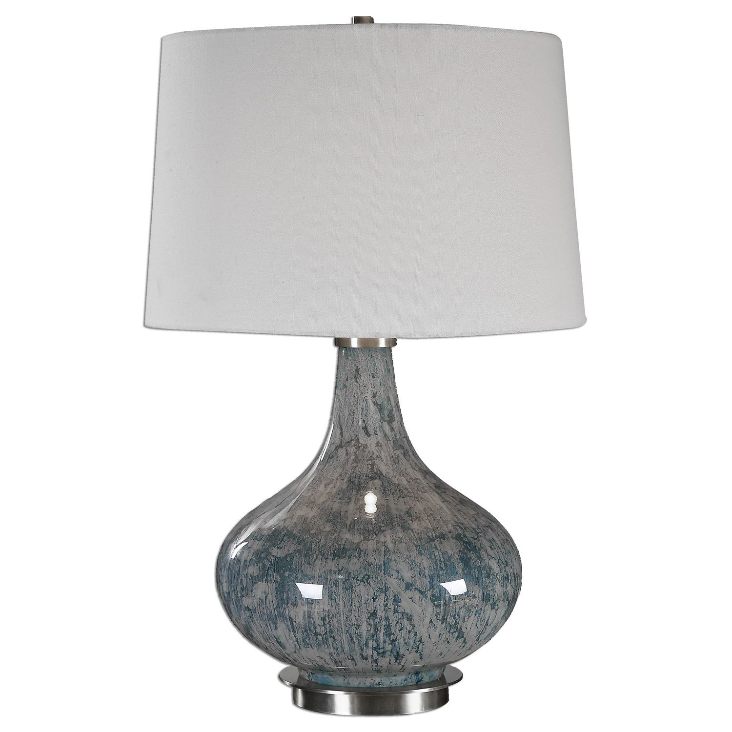 celinda blue gray one light table lamp uttermost accent black and winsome wood cassie with glass top cappuccino finish acrylic chairs west elm carpets office chair console behind