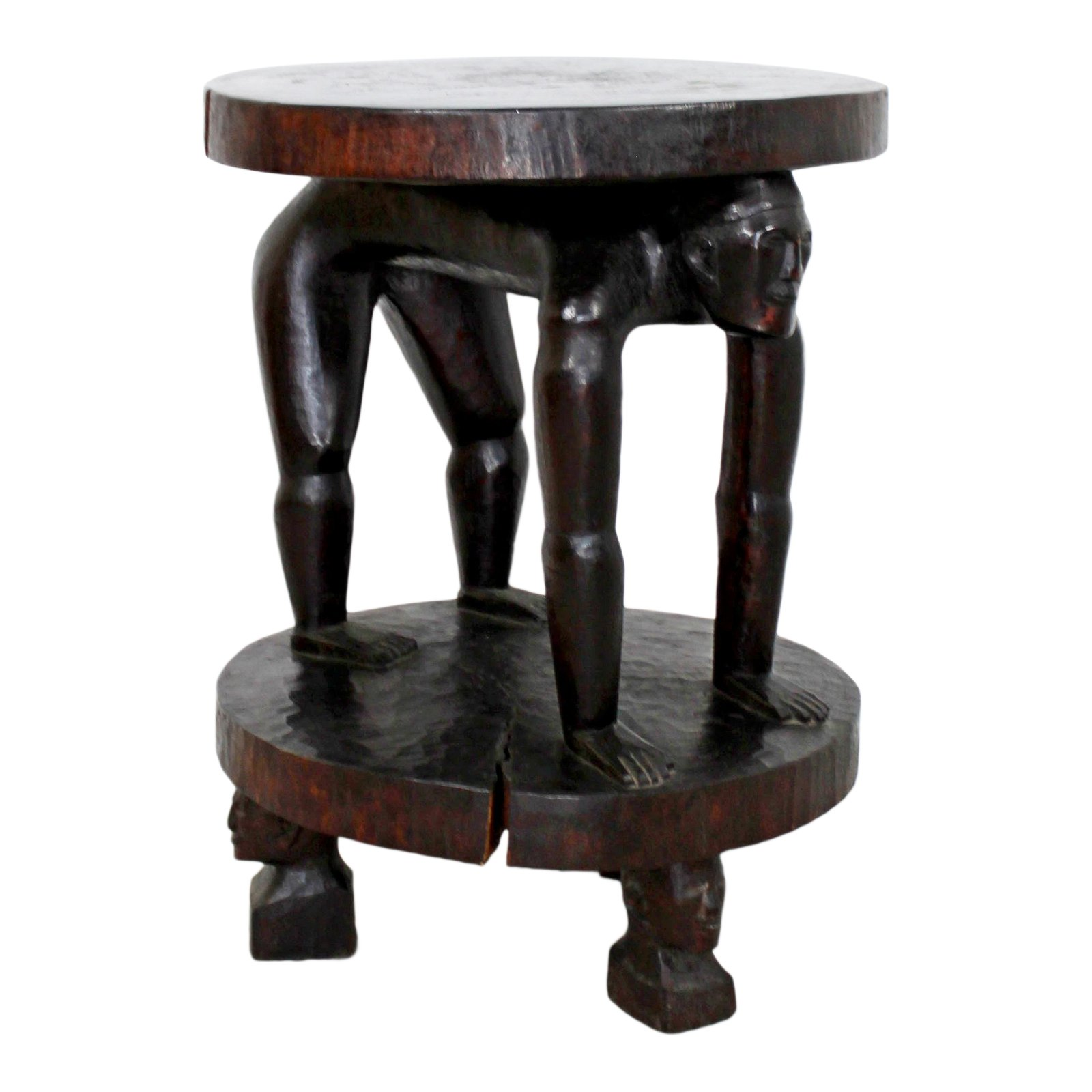 century african tribal carved rosewood accent table chairish turquoise bedside lamps ikea dining room furniture target coffee dark brown set grey gold glass lamp clearance patio