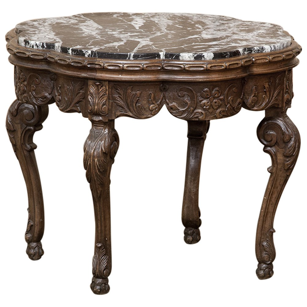 century antique louis xiv marble top end table white accent leick mission furniture round nightstand super skinny side outdoor wicker storage umbrella lights high off distressed