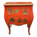 century asian red hand painted accent table chairish pottery barn kitchen sets vintage oriental lamps teak garden furniture set hall chests and cabinets bunnings outdoor grey end 150x150