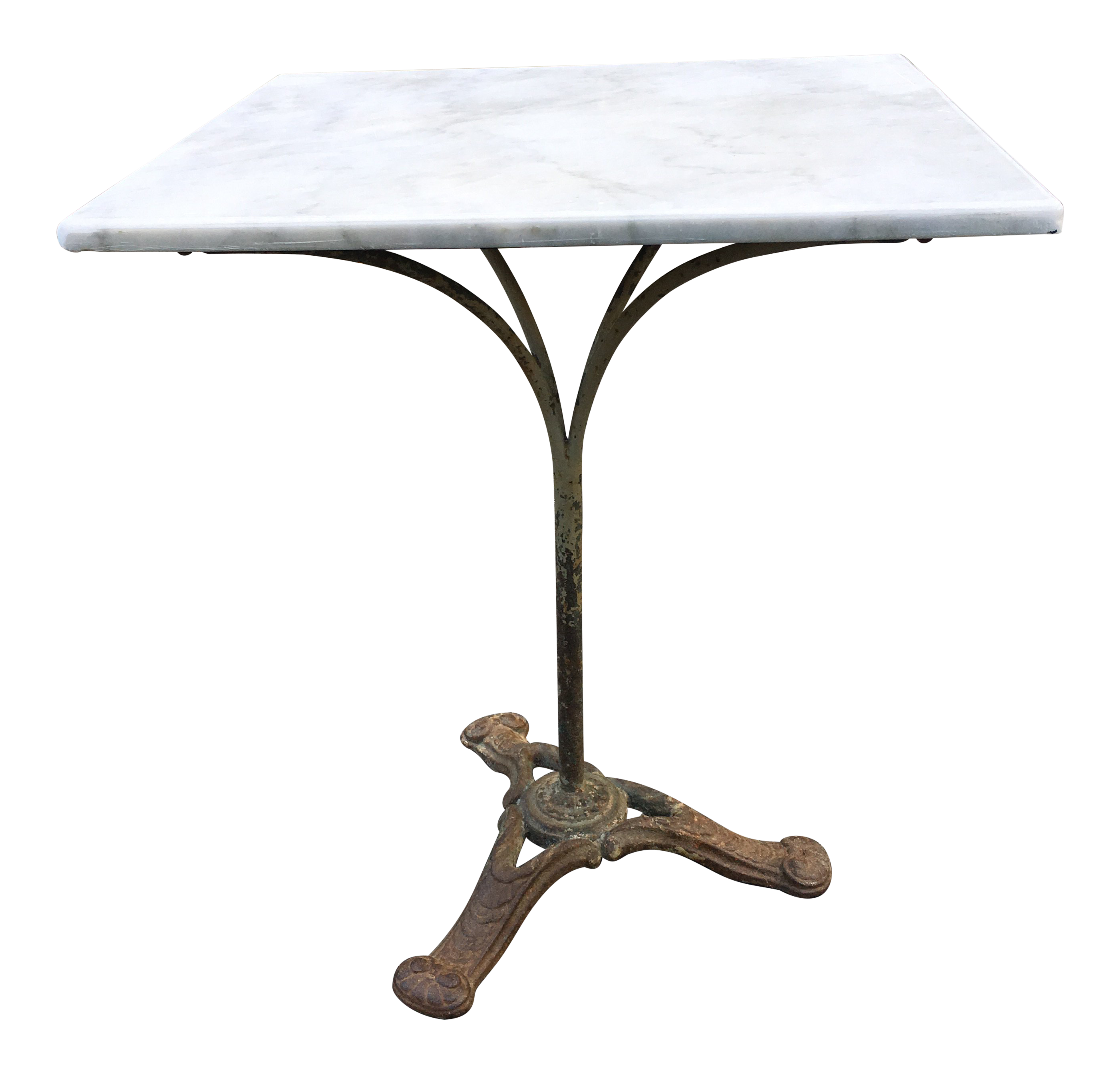 century french marble bistro table with foliate cast iron base accent chairish shaped side pier one console circle coffee retro bedroom chair cherry wood trestle dimensions