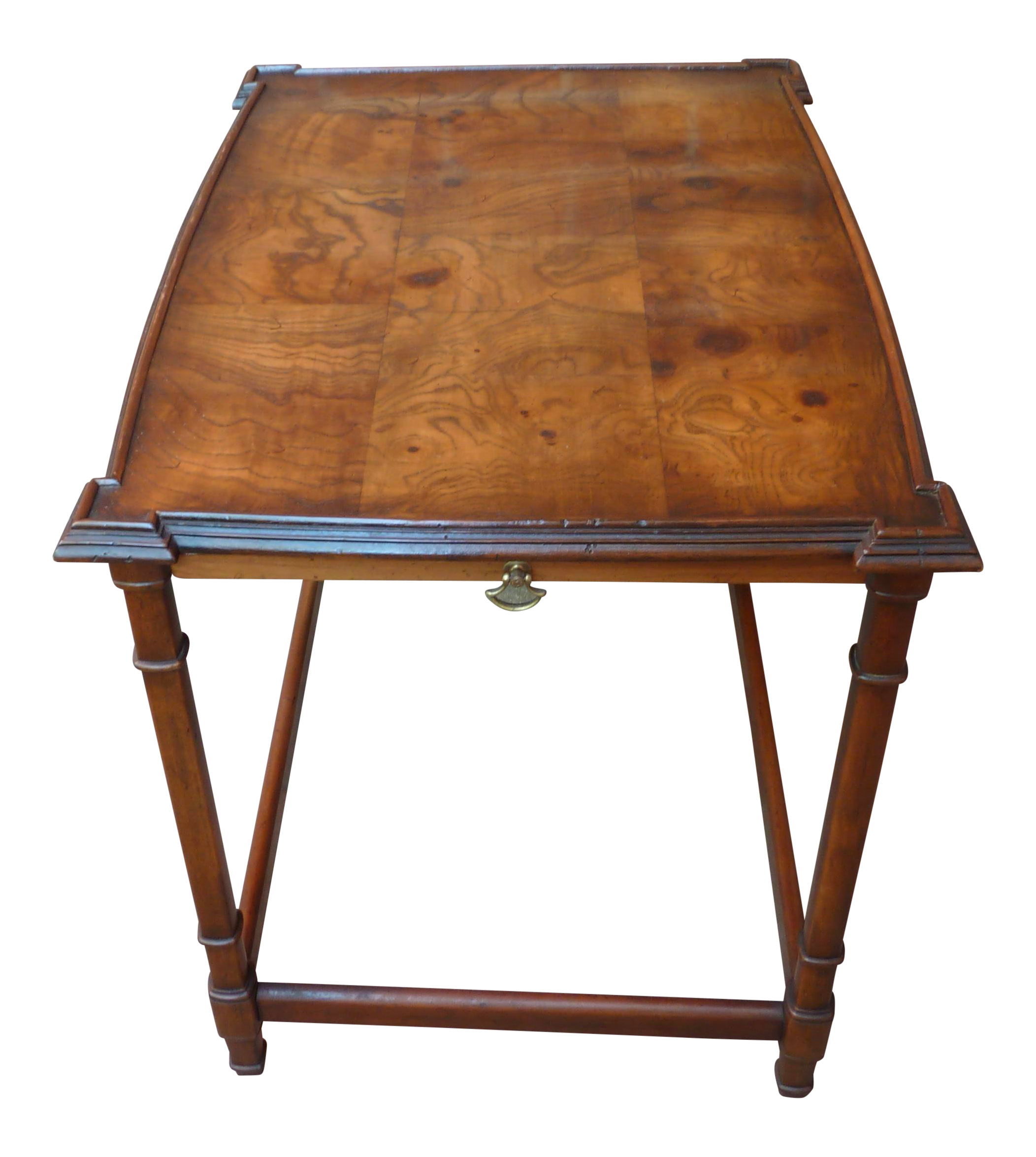 century traditional burl wood accent table chairish side light door stopper small mid coffee square glass oversized armchair large drop leaf dining parker furniture cast iron