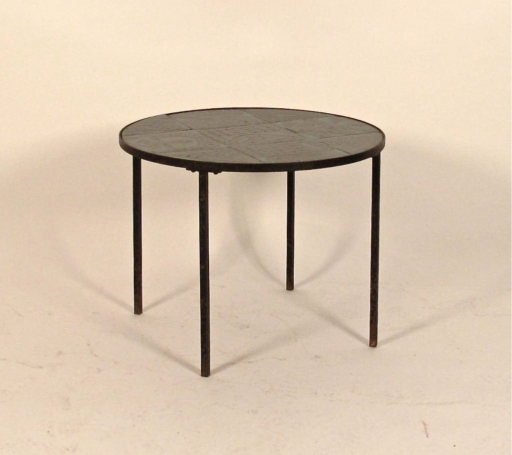 ceramic and oak side table hans wegner for french abstract drum accent patio umbrella teak outdoor ashley furniture chaise target changing small lucite dale tiffany amber mosaic