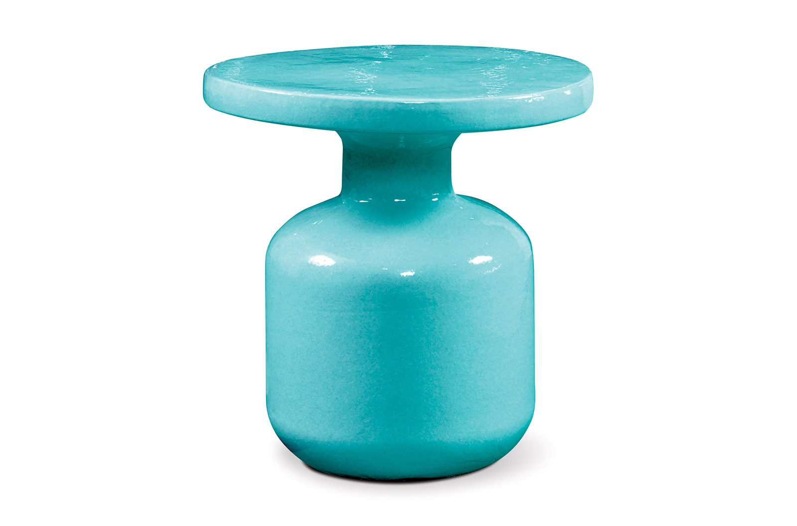 ceramic bottle accent table cer web aqua blue treasure trove end elegant dining room furniture sets lamps countertops oval outdoor inch nightstand work light razer ouroboros elite