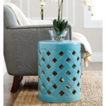 ceramic drum accent table tops unusual flower vases with blue garden stool and rug for living room decoration ideas chinese side metal cream pier one small black entry mirrored 150x150