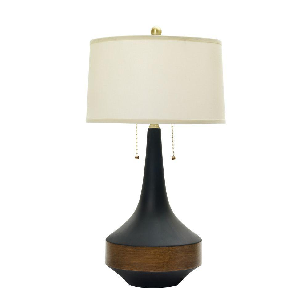 ceramic table lamp matte black with dark oak wood accent antique brass accents lamps band light tables centerpiece ideas for home target gold nightstand round coffee patio winter