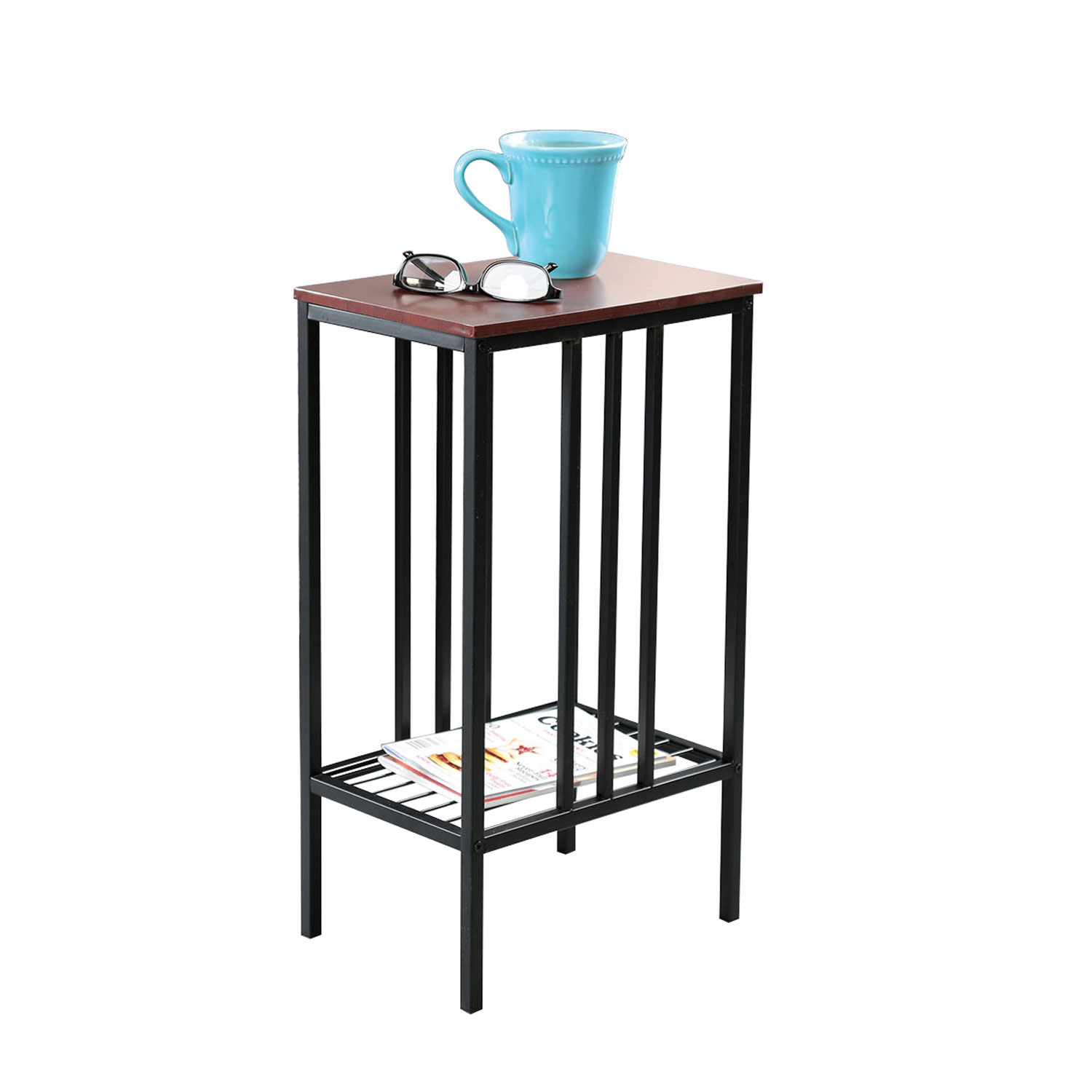 chair side sofa accent table black iron walnut top small space rev with tray end round outdoor patio farmhouse bench best computer desk sun umbrella stand turquoise bedside lamps