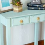 chalk synthesis painted accent table old house new home accenttable aqua blue patio dining clearance decor design treasure trove end hexagon target best furniture knotty pine set 150x150