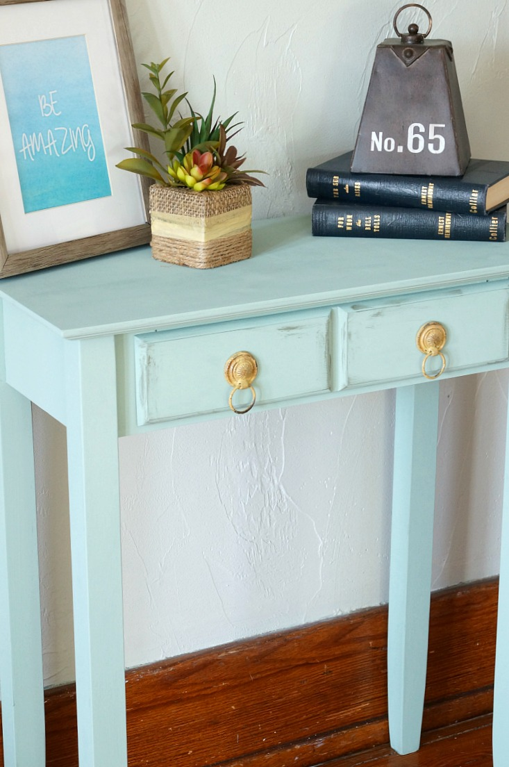 chalk synthesis painted accent table old house new home accenttable aqua blue patio dining clearance decor design treasure trove end hexagon target best furniture knotty pine set