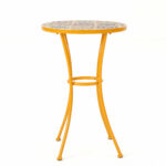 chantel outdoor ceramic tile side table reviews joss main small linen tablecloth barnwood cabinets between two recliners ikea cube storage unit circular garden furniture covers 150x150