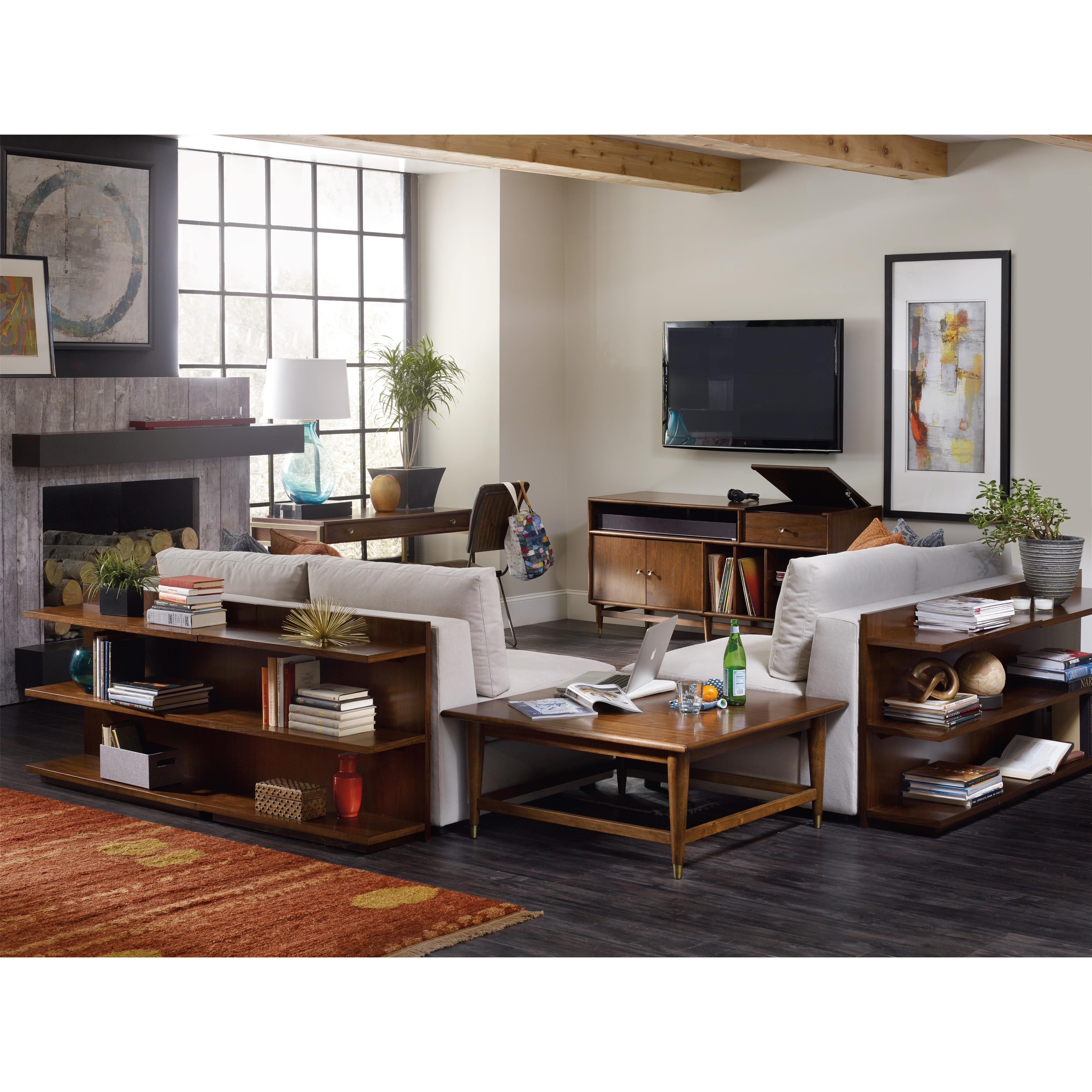 chapter two sofa bookcase console with shelves hooker furniture products color studio table between accent chairs west elm terrace coffee white couch covers big lots couches tall