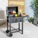 charcoal trolley barbecue height adjustable grill side table wheels outdoor lawn small glass desk black marble accent wooden coffee and end tables piece nesting rectangular 150x150