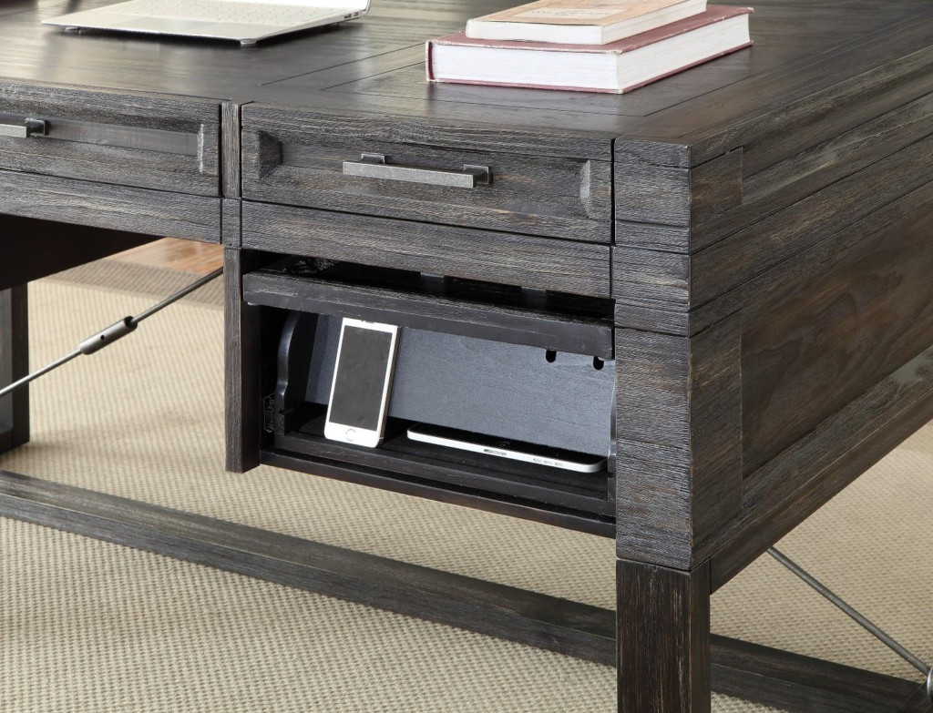 charging station end table decor idea plus modern hudson writing desk with power center mcaleers office for small blue wood and metal coffee jofran chairside base ideas cedar