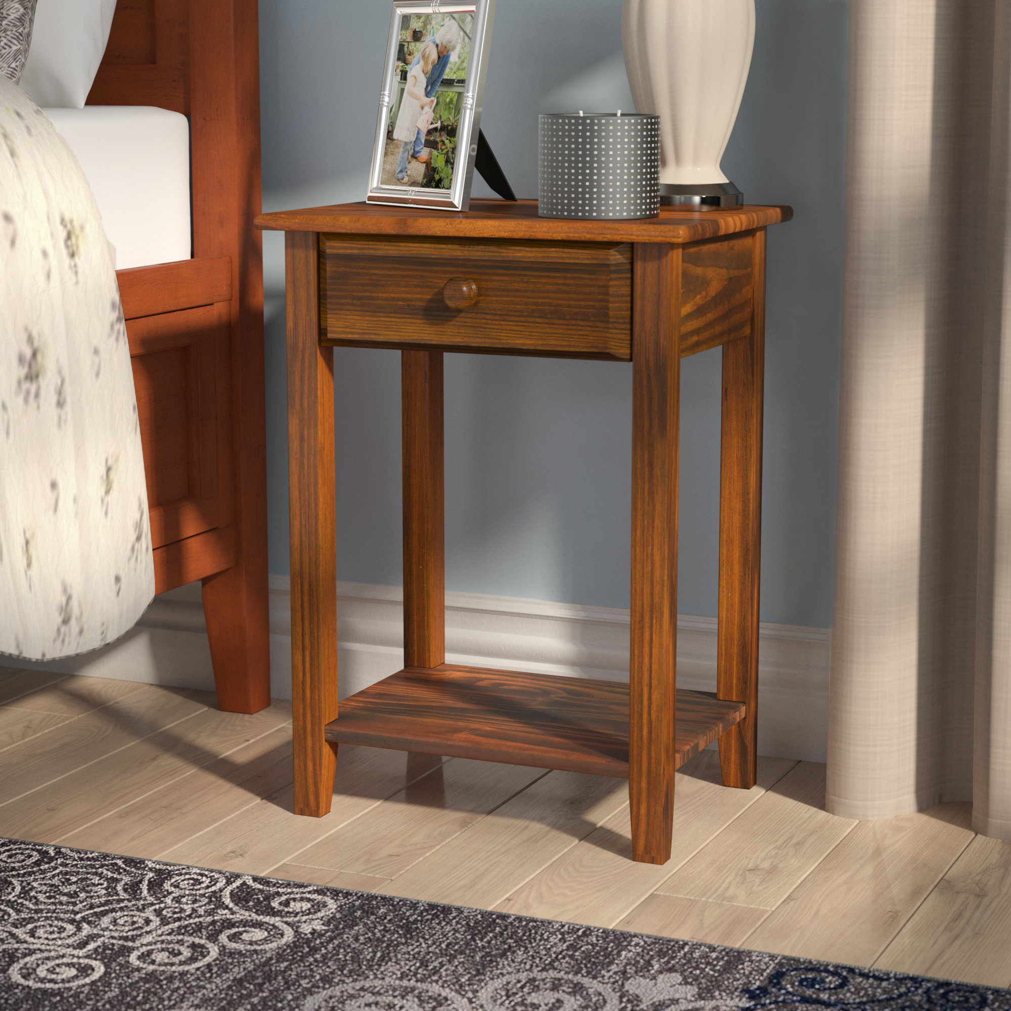 charlton home andress drawer nightstand reviews homer accent tables with charging station farmhouse coffee table set top furniture half moon mirrored console west elm outdoor