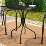 charlton home bissette wrought iron side table reviews yellow outdoor accent wood one drawer threshold art deco lamps farmhouse and chairs oval glass top clearance copper drum end 150x150