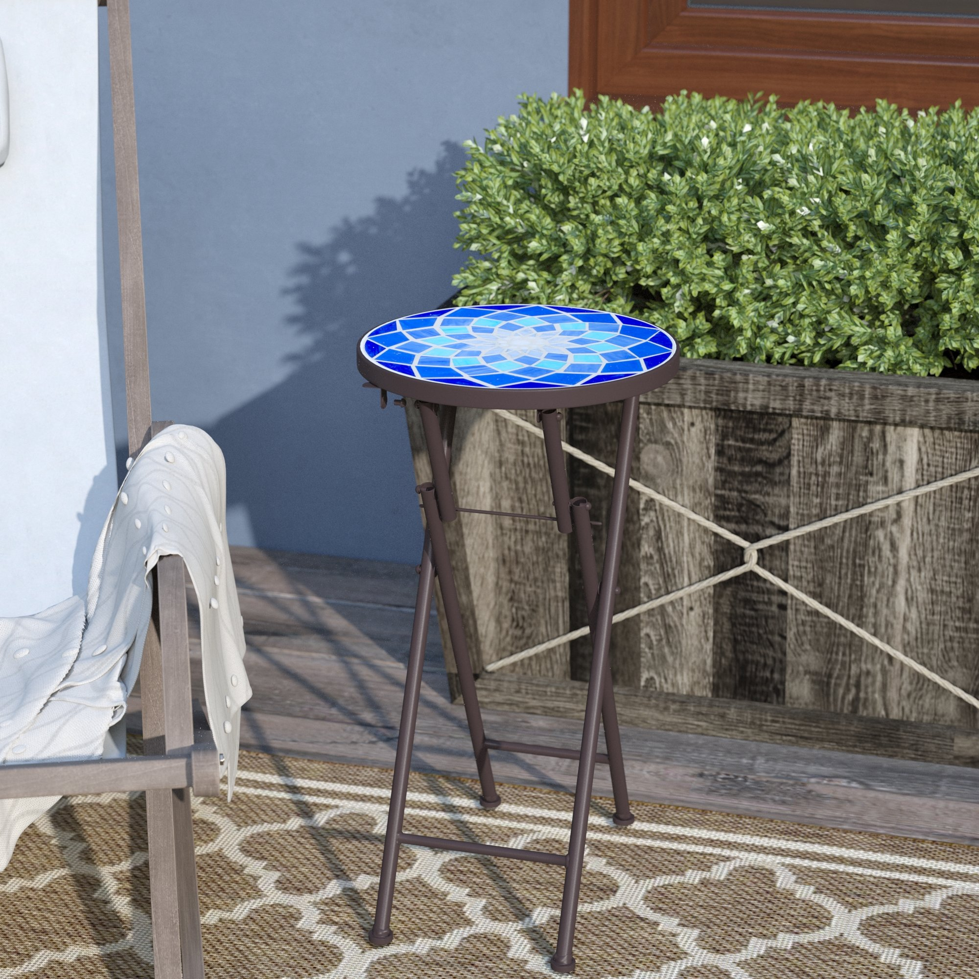 charlton home ruhlman outdoor side table reviews and chairs black gloss console metal couch chairside ikea pottery barn dining decor ott storage box white umbrella small gray west