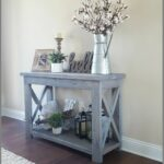 charming new modern farmhouse entry way console table decor home wonderfull modified ana whites rustic and used classic small entryway accent antique end tables white marble gold 150x150