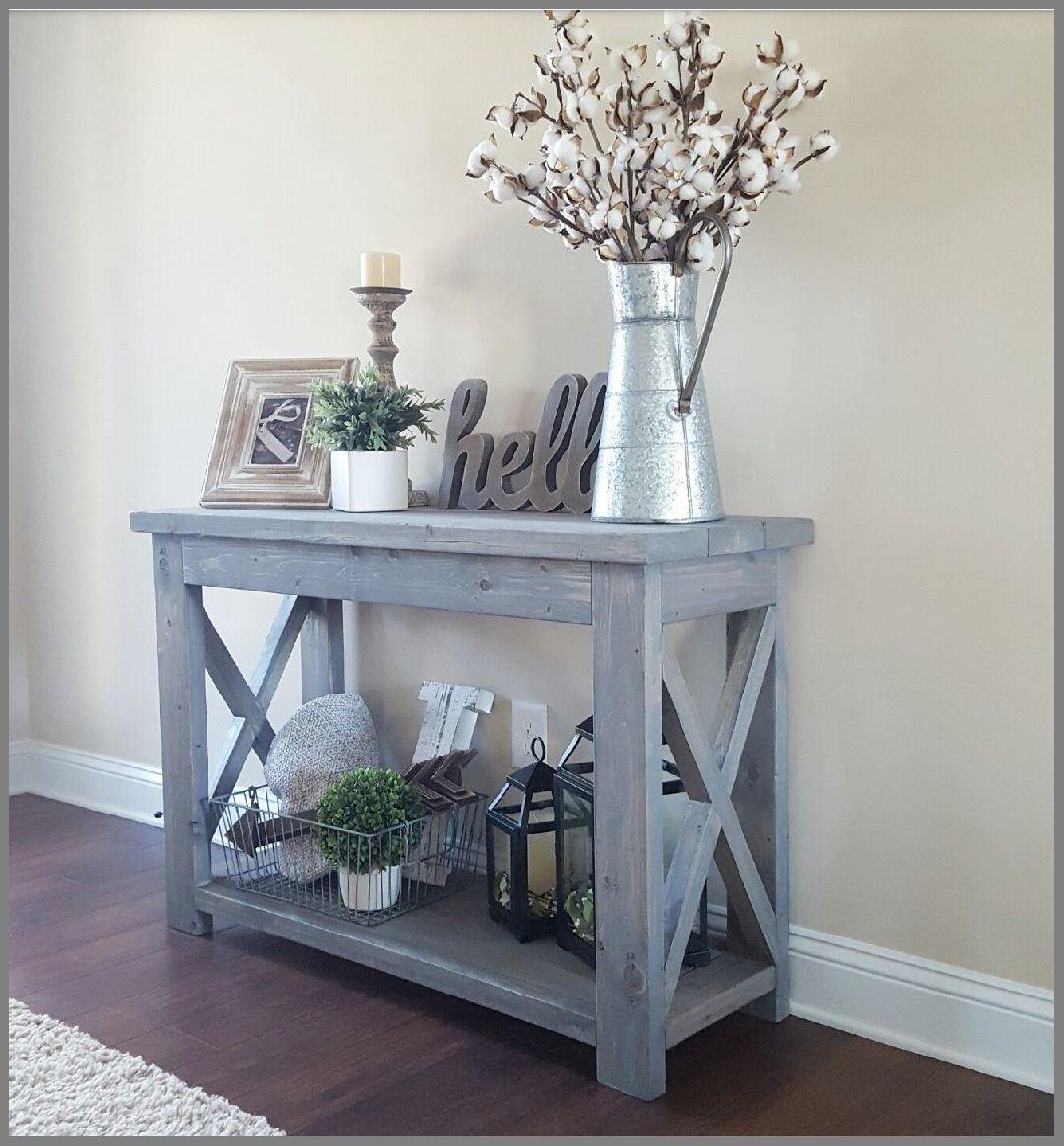 charming new modern farmhouse entry way console table decor home wonderfull modified ana whites rustic and used classic small entryway accent antique end tables white marble gold