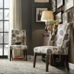 chelsea lane classic gray flower with leaves print wingback accent chair set table nailhead folding dining for small space hampton bay wicker windham cabinet mosaic top coffee 150x150