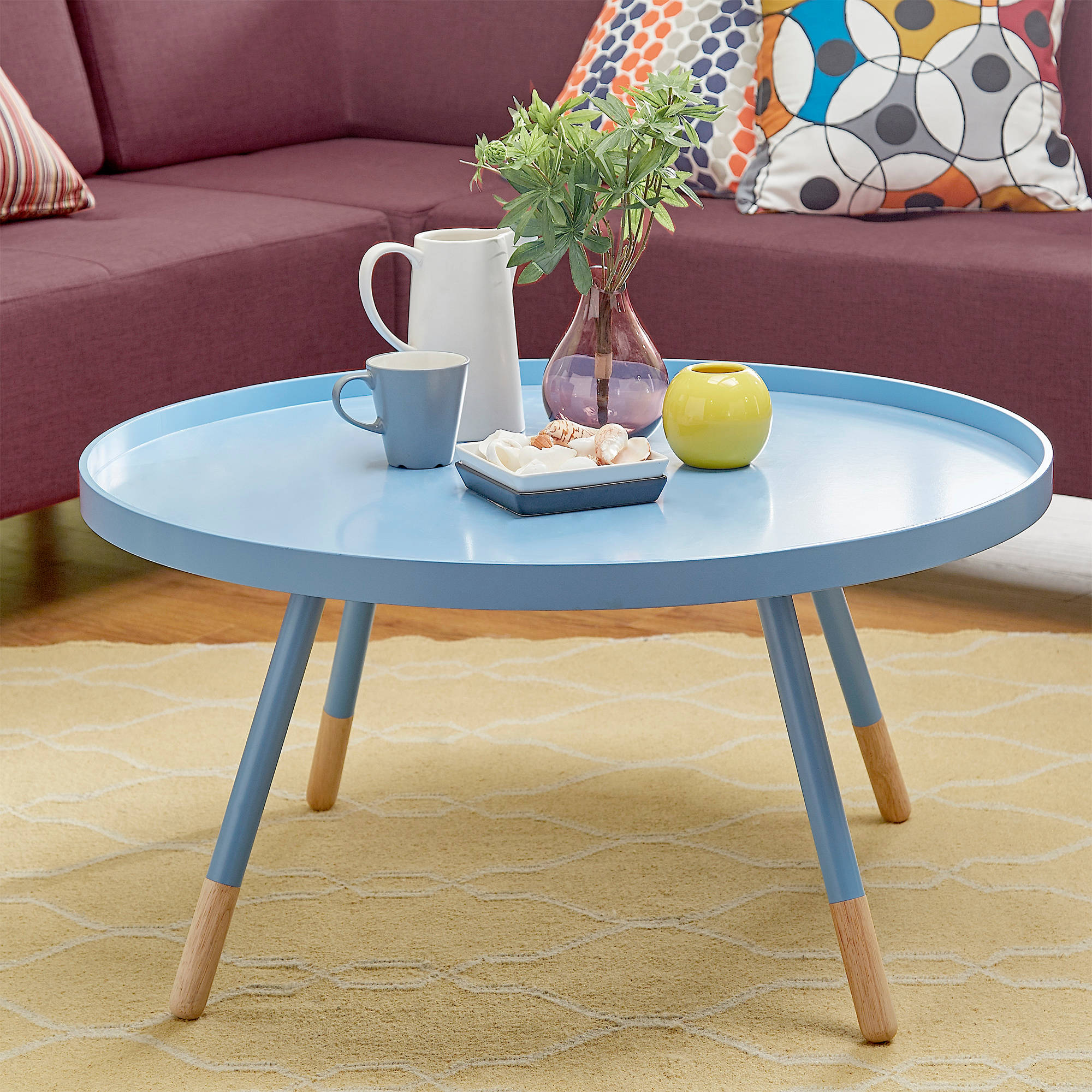 chelsea lane round tray coffee table multiple colors spindle wood accent target furniture mats plastic christmas tablecloths chairside seater dining square glass mid century